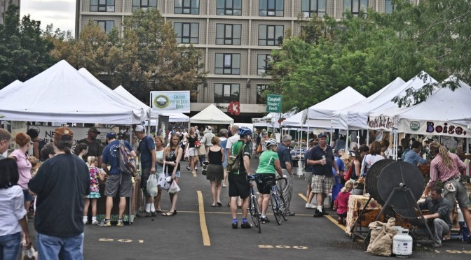 Opening Day at The Boise Farmer's Market