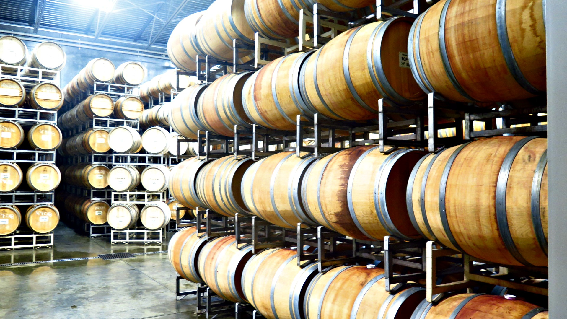 Their barrel room. I know...hideous, right? Pfft...